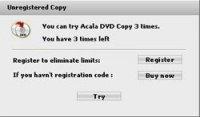 Acala DVD Copy 2.4.9 - Программа позволяет копировать DVD-диски
