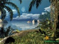 Caribbean Nights Screensaver - полностью оживлённая сцена Карибского пляжа!