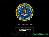 Экран загрузки Windows XP в стиле ФБР, FBI