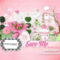 Скрап - набор - Love me
