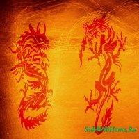 Кисть для фотошопа - Золотой дракон