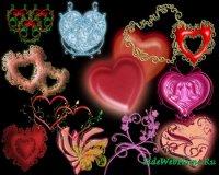 Фоны для фотошопа - Сердца