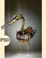 PSD для фотошопа - Птица робот