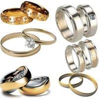 PSD для фотошопа - обручальные кольца