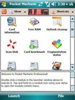 Pocket Mechanic Professional v2.99.280 - Набор системных утилит для КПК, в т.ч. для работы с картами памяти