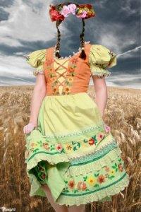 Шаблон для фотошоп- национальный костюм 16