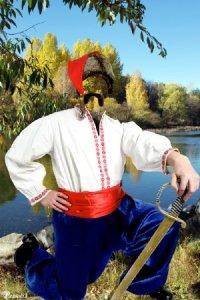 Шаблон для фотомонтажа —  национальный костюм 17
