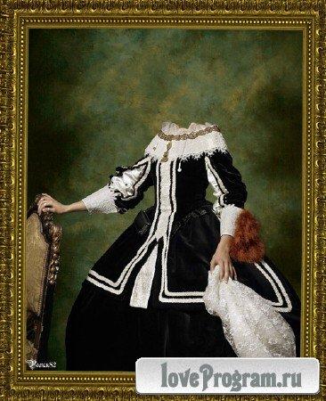 Шаблон для фотомонтажа — старинный костюм 60