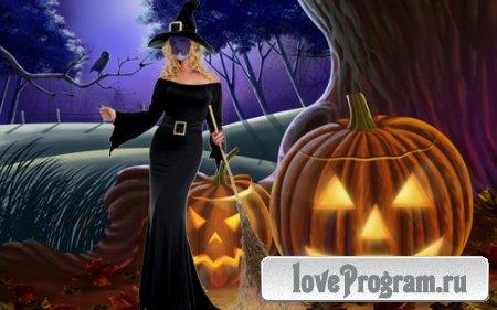 Шаблон для фотомонтажа — костюм для Хэллоуин