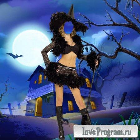 Шаблон жеский — костюм для хэллоуина