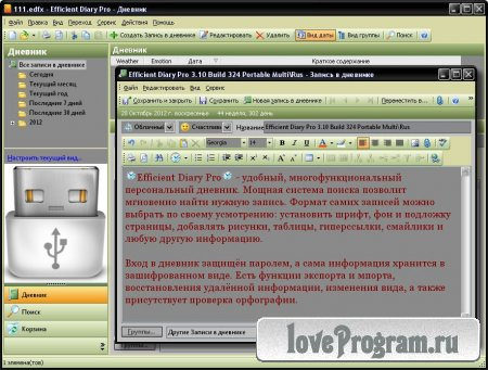 Efficient Diary Pro 3.10 Build 324 Portable