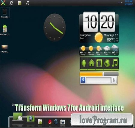 Transform Windows 7 for Android Jelly Bean
