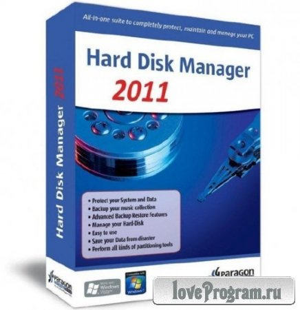Paragon Hard Disk Manager 12 Professional 10.1.19.15839 Advanced Recovery CD based on winPe (2012)