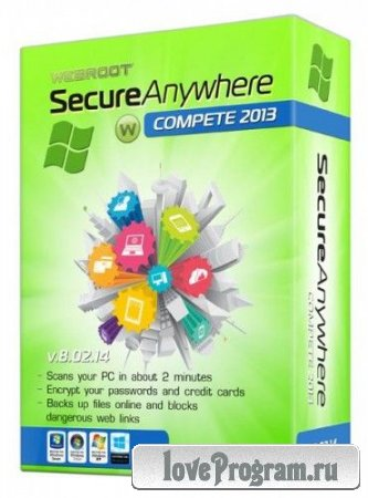 Webroot SecureAnywhere Complete 2013 8.0.2.14 ML/Rus