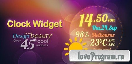 Beautiful Clock Widget 1.4 (Android)