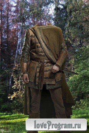 Шаблон для фотомонтажа — мужской старинный костюм