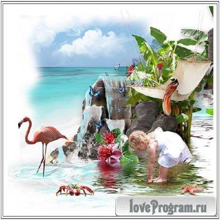 Морской скрап-набор - Райский уголок