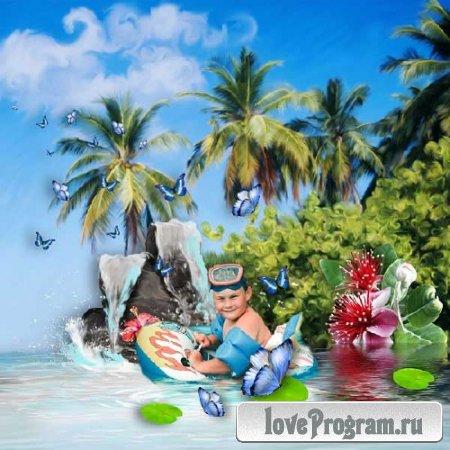 Морской скрап-набор — Райский уголок
