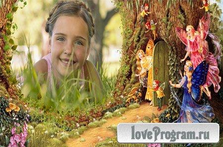 Рамка детская — Сказок полон лес чудесный