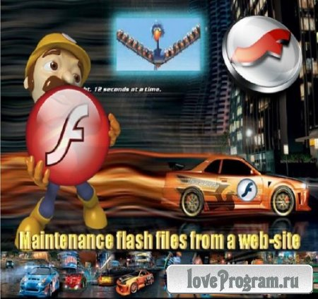 Maintenance flash files from a web-site