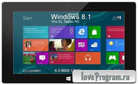Windows 8.1 Pro VL 6.3.9600.17085 Tablet PC (x86/2014/RUS)