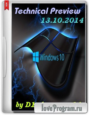 Windows 10 Technical Preview x64 by D1mka v4.8 (2014/RUS/ENG)