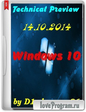 Windows 10 Technical Preview x86 by D1mka v4.9 (2014/RUS/ENG)