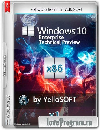 Windows 10 Enterprise Technical Preview v.1 by YelloSOFT (x86/2014/RUS/ENG)