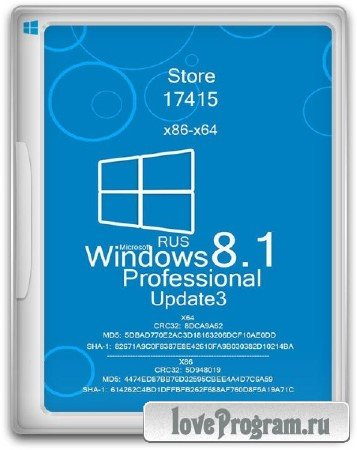 Windows 8.1 Embedded Industry Pro 17415 Update3 Store 1411 by Lopatkin (x86/x64/2014/RUS)