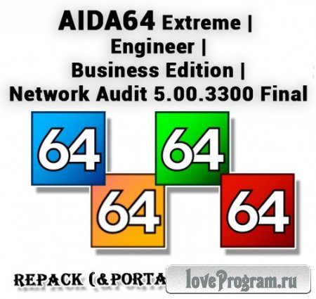 AIDA64 Extreme | Engineer | Business | Network Audit 5.00.3300 Final RePack (& Portable) by elchupakabra
