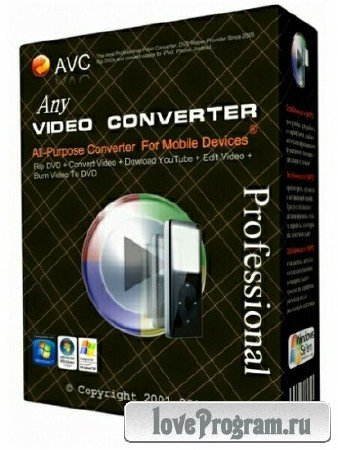 Any Video Converter Professional 5.7.7 (Multi/Rus)