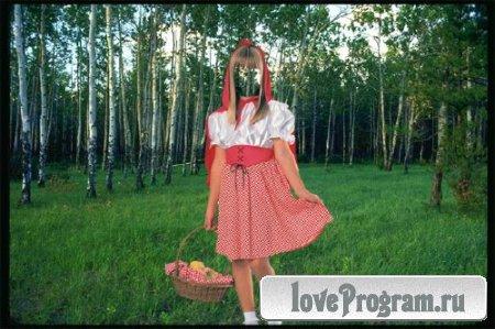 Шаблон для фотомонтажа — Красная шапочка