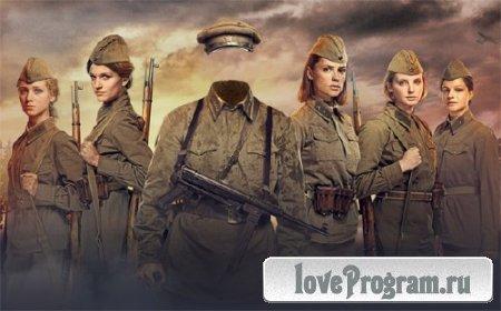 Фото шаблон — Солдат Второй мировой