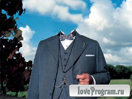 PSD шаблон для мужчин - Мужской костюм 30-х годов