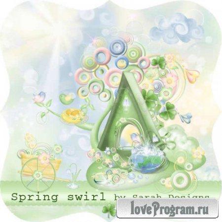 Цветочный скрап-комплект - Spring Swirl