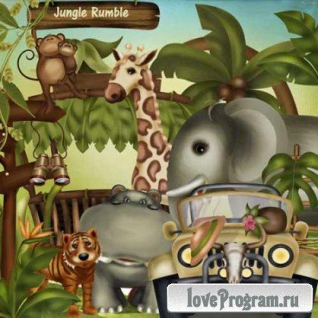 Детский скрап-комплект - Рокот джунглей