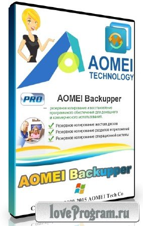 AOMEI Backupper Professional / Technician / Technician Plus / Server 4.1.0 DC 16.04.2018 + Rus