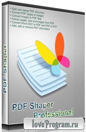 PDF Shaper Professional / Premium 9.0 Final RePack & Portable by TryRooM