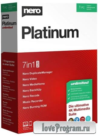 Nero Platinum Suite 2020 22.0.02300 + Content Pack