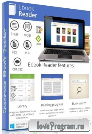 Icecream Ebook Reader Pro 5.20 RePack & Portable by TryRooM