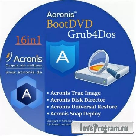 Acronis BootDVD Grub4Dos Edition 16in1 13.08.20