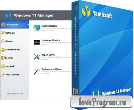 Yamicsoft Windows 11 Manager 1.0.0 + Portable